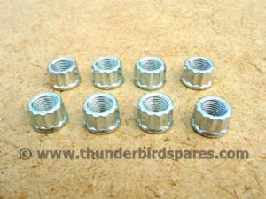 Cylinder Base Nuts,12 Point, Set(8), Triumph T100 1969-74, T120 1969-72, 21-0692